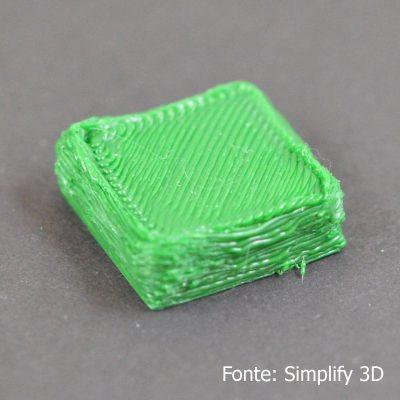 Extrusão de muito plástico Extrusão de muito plástico Over Extruding 400x400